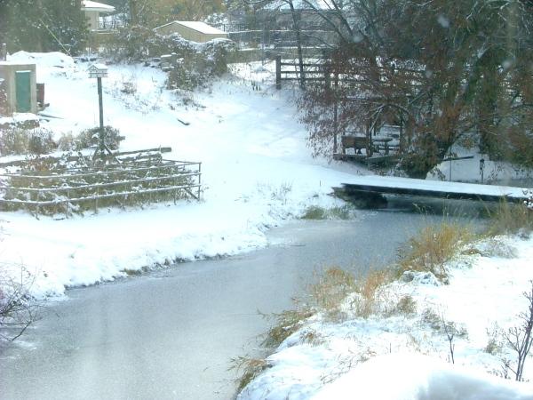 wide hollow creek frozen