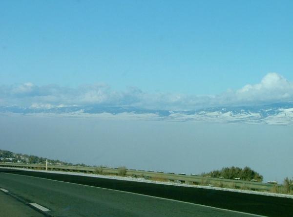 Ellensburg, WA in fog