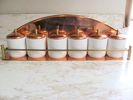 copper spice jars