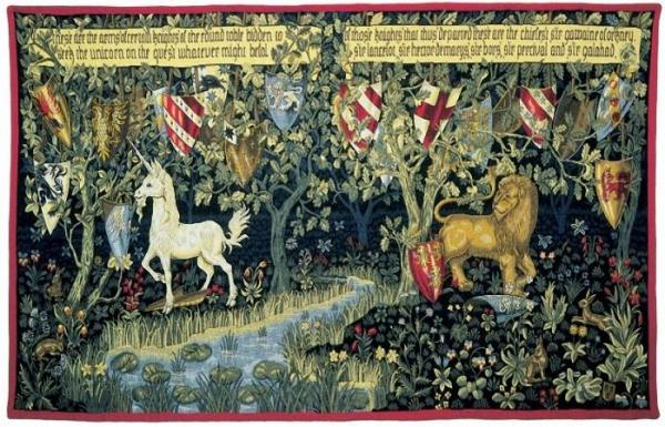 william morris tapestry les chevaliers de la table ronde