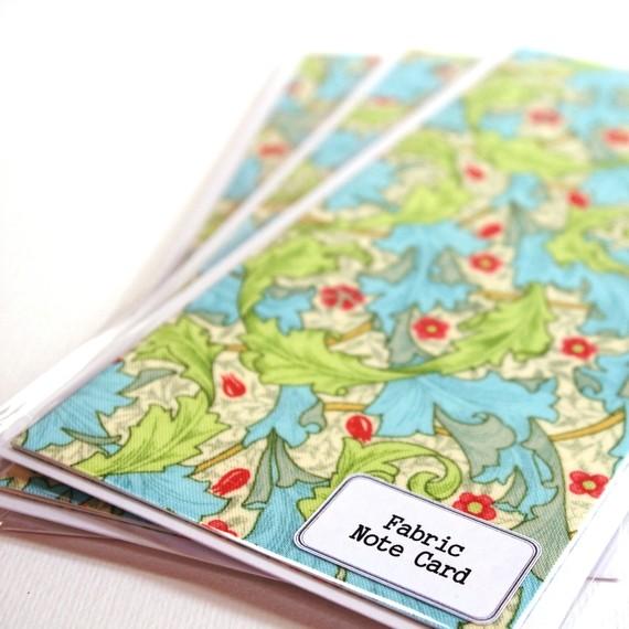 william morris fabric notecards