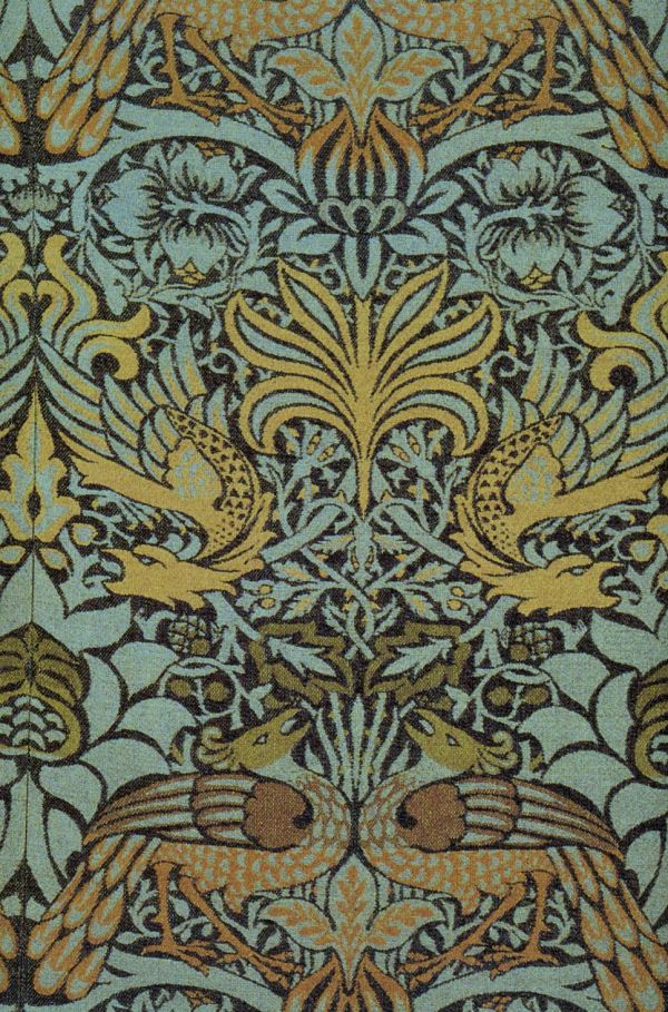 william morris peacock and dragon