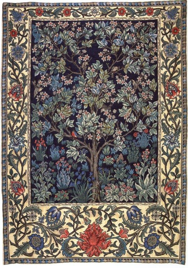 william morris tapestry tree of life