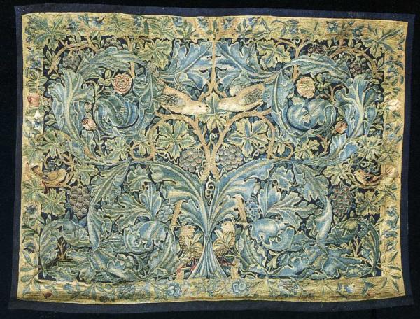 william morris tapestry cabbage vine acanthus