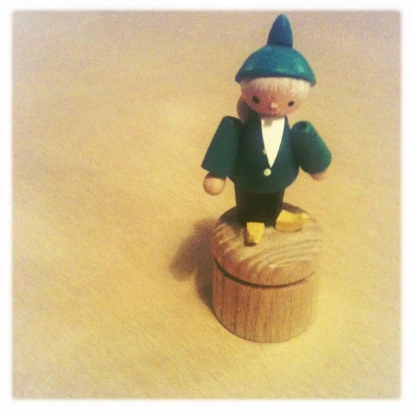 elf push puppet dregeno germany wooden