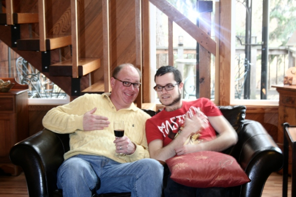 Bro-in-Law Doug and Husband, John - Just Not Lest Ye Be Judged.