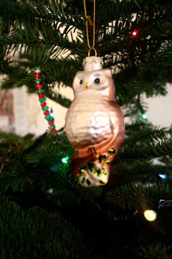vintage owl christmas ornament