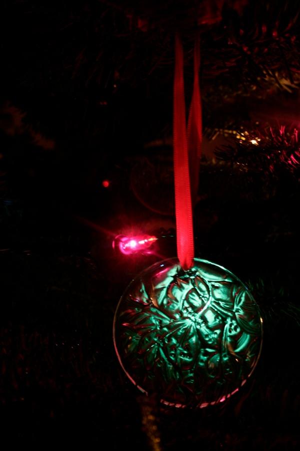 Lalique Mistletoe Christmas Ornament
