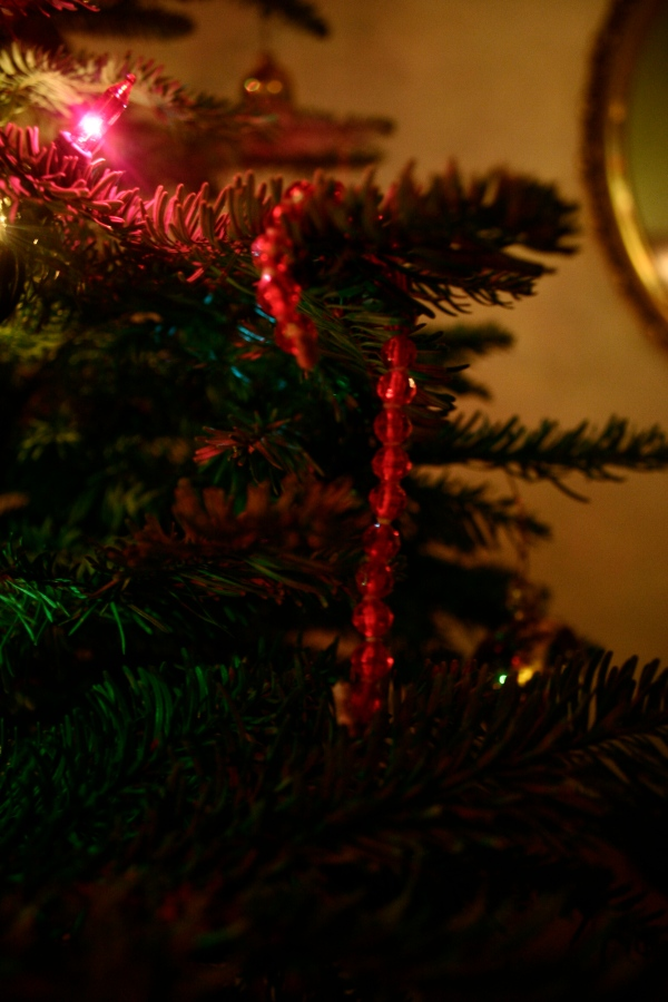homemade candy cane ornament