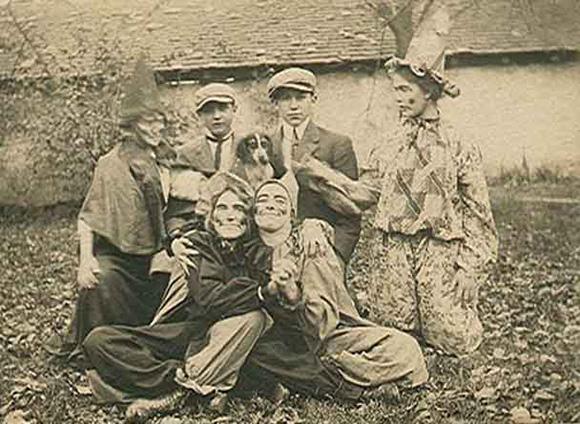 vintage halloween photograph