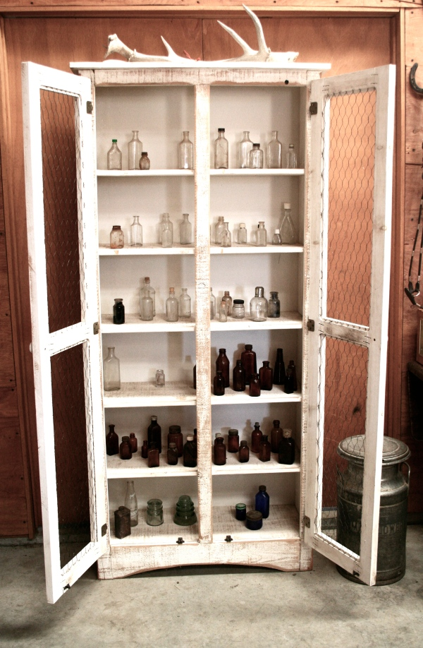apothecary cabinet bottles