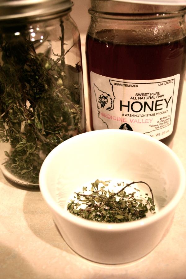 herbal tea and honey cure