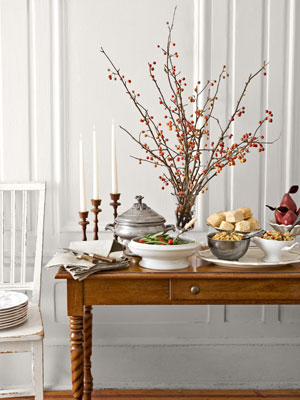 thanksgiving table arrangments