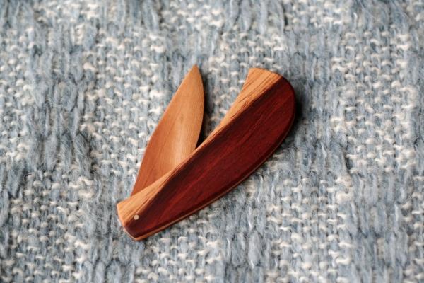 wooden letter opener knife