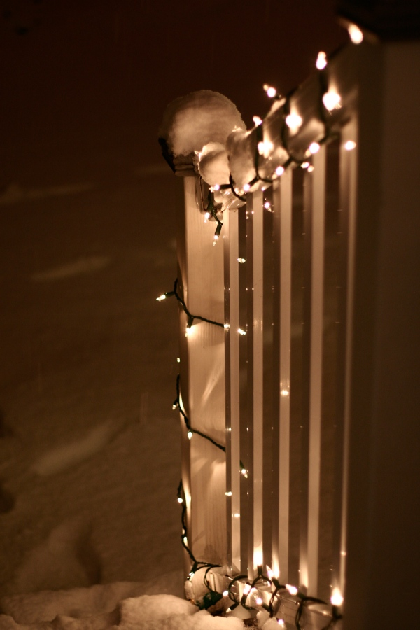 illuminated snow