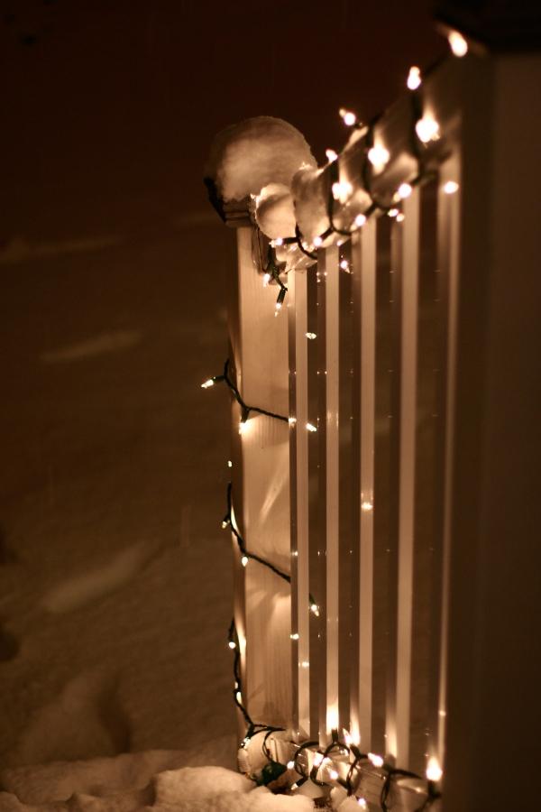 illuminated snow