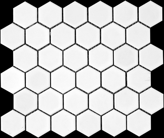 "bathroom floor 2"" hexagon"