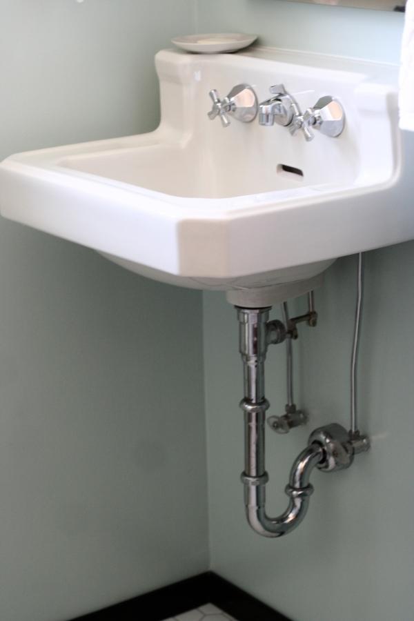 vintage sink bathroom after