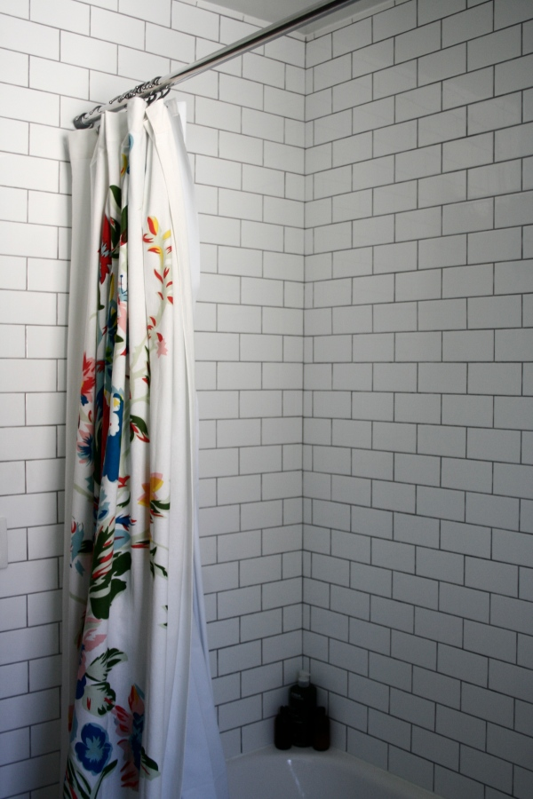 shower subway tile
